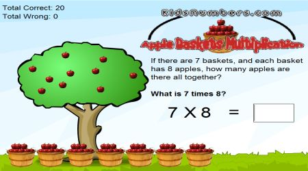 Screenshot - Apple Baskets Multiplication